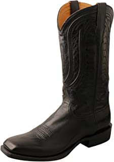 Men's Rancher Wide Square Toe 13-Inch Cowboy Boots - Chocolate Goat