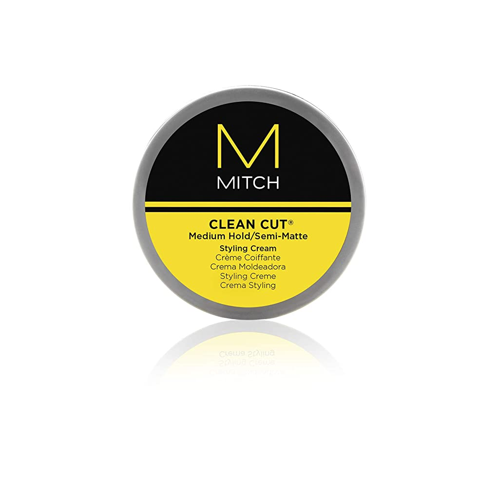同化ブリーク最大化するMitch Clean Cut Medium Hold/Semi-Matte Styling Cream