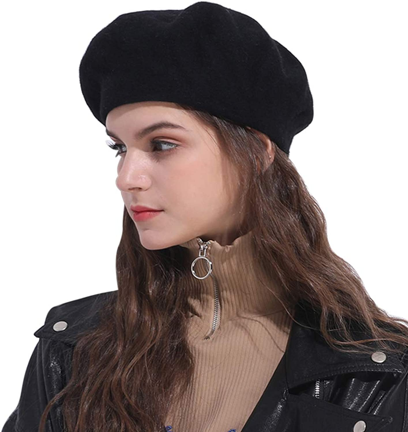 Andy&Esther Wool Blend Plain French Womens Beret Classic Painter Hat Winter