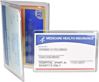 Medicare Combo 2 Wallets for Business and Credit Cards with 3 Holders