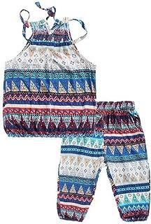 マチュピチュ五月不良Smileベビー服 子供服 女の子 シャツ プリンティング スリング服 パンツ 上下セット ボヘミア 象 可愛い 普段着 お出かけ 旅行 ビーチ 海辺