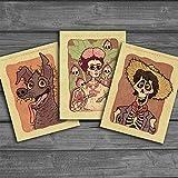 3 Unids/Lote Estilo de Cartel Pegatinas de Película Drama de Dibujos Animados Mexicanos Coco para Laptop Equipaje Casco Guitarra TV Box Kid Decal Stickers