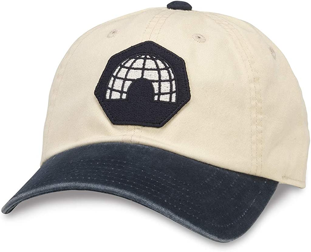 AMERICAN NEEDLE Archive Vintage Duluth Eskimos Dad Buckle Strap Hat (44740A-DUE-INVY) Ivory/Navy