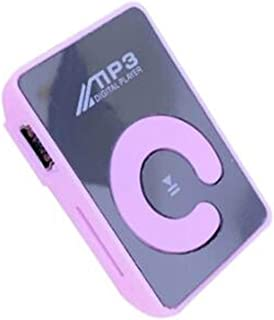 Portable/Mini/Mirror Clip /MP3 Player,Music Media Support,Micro SD TF Card,Fashion HiFi MP3,for Outdoor/Sports,Purple