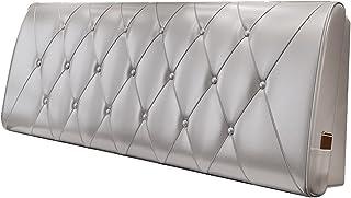 Dongy Tête de lit Coussin de lit Couverture de Dossier Canapé rembourré Coussin Lombaire en Cuir Amovible, 10 Couleurs, Pl...