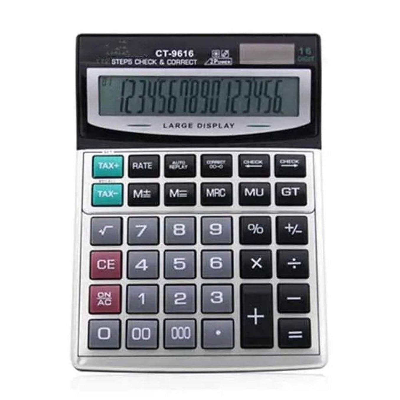 借りている重々しい説明電卓 オフィスや学校のために電卓デスクトップ電卓大型電卓 ビジネス電卓 (Color : Gray, Size : One size)