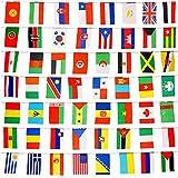 8,2'x 5.5' 164pies internacional cadena de banderas, 200Países banderas mundo banderas para colgar banderines banderín para fiestas y cachorro Decoretions (8,2'x 5.5')