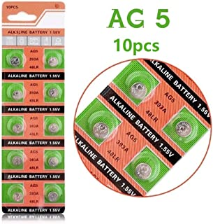 Cotchear AG5 393A LR754 SR48 Button Cell Batteries [10-Pack]