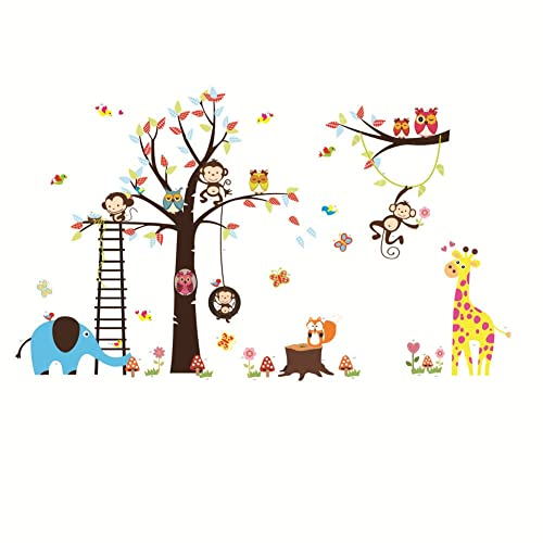 Home & Garden Enthusiastic Colorful Animals Car Giraffe Lion Kids Wall Stickers Removable Art Diy Decal Baby