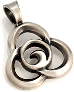 Bico Trilogy Pendant (E123) - interwinding of The Heart, Mind and Spirit - Satin Silver Finished