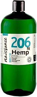 Naissance Hanfsamenöl BIO Nr. 206 1 Liter 1000ml – nativ, kaltgepresst, 100% rein – vegan und tierversuchsfrei – reich an Omega-3 und Omega-6