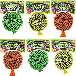 JA-RU Whoopee Cushion Self Inflating Flarp Original (Pack of 6) Kids and Adult Fart Toy   Prank Self-Inflating. Whoopie Makes Gas Sounds Item #327-6A