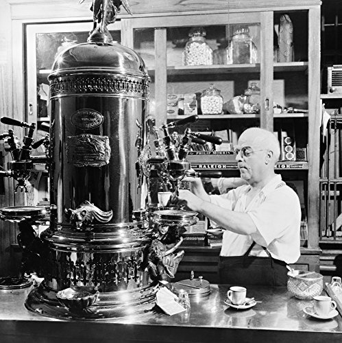 Coffee Shop C1942 Na Man Operating A Cofee Machine At An Italian-American Caf Espresso Shop On Macdougal Street In New York City Photographed By Marjory Collins C1942 Poster Print by (24 x 36)