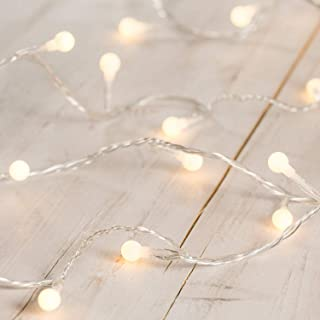 Lights4fun Guirnalda Luminosa de Bombillas Decorativas de luz LED Blanca cálida