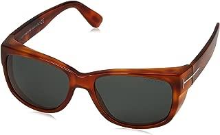 Kính mắt nữ cao cấp – FT0441 53N Blonde Havana Carson Oval Sunglasses Lens Category 3 Size 5