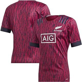 El Deporte,Negro,S Los Hombres De Manga Corta Camiseta De Rugby Nueva Zelanda All Blacks Jersey Adecuado para Caminar Vacaciones Reuniones De Clubes
