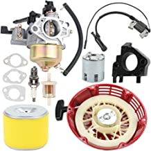 Trustsheer GX340 GX390 Carburetor w 17210-ZE3-505 Air Filter Recoil Starter Ignition Coil for Honda GX 340 GX 390 13HP 11HP Engine Carb Replace 16100-ZF6-V01 Lawnmower Water Pumps