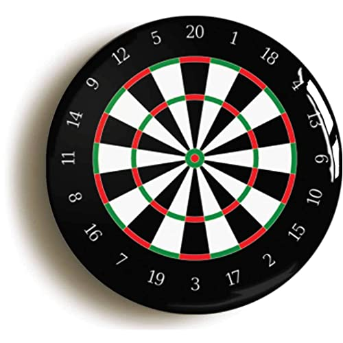 DART BOARD BADGE BUTTON PIN (Size is 1inch/25mm diameter) DARTS NOVELTY GIFT