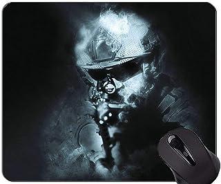 Yanteng Cojín de ratón del Juego, cojín de ratón del Soldado de Las Armas de Las Armas con el Borde Cosido
