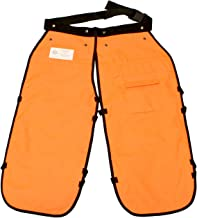 Redneck Convent 40in Safety Chainsaw Chaps – Logging Tools Chainsaw Safety Gear with Pocket, Chainsaw Apron Chaps Style, Orange