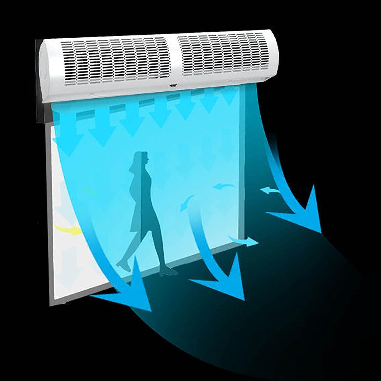 SMYH Cortina de Aire 2 Niveles Ajustables, Cortina de Aire frío montada en la Pared, Bajo Nivel de Ruido, Gran Volumen de Aire, Puertas Montaje en Pared, Comercial/Industrial