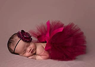 Tukistore Recién Nacido Bebé Falda Tutu Ropa Jersey Traje Foto Prop Ropa con Banda para el Cabello