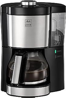Melitta Look V Perfection 1025-06, Cam Sürahili Filtre Kahve Makinesi, Siyah Paslanmaz Çelik, 1.25 litre, 1080 W