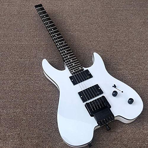 chushi Guitarra Eléctrica Sin Cabeza Pintura Blanca Guitarra Eléctrica Guitarra Eléctrica De...