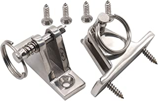 VTurboWay 2 Pack Bimini Top 90�Deck Hinge with Removable Pin, 316 Stainless Steel