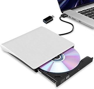 【2021最新版】外付け DVDドライブ USB 3.0 type-c 外付CD・DVDドライブ CD/DVDプレーヤー 外付け光学ドライブ ブルーレイ PC外付けドライブ ポータブルドライブ CD/DVDドライブ ノートパソコン CD/DVD...