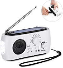 ThorFire Emergency Solar Hand Crank Portable Radio, NOAA Weather Radio for Household and Outdoor Emergency with AM/FM, LED Flashlight, 4 Charging Modes, Emergency Power Bank for Cellphones