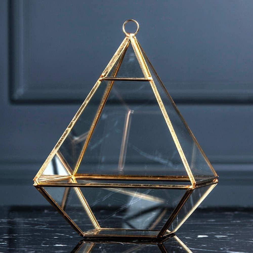HZYDD Decoration New product type Virginia Beach Mall Home Creative Geometric Shape Frame Gla Copper