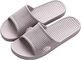SHIBEVER Bathroom Slippers for Women Light Weight Water Shower Shoes Slip On Open Toe Slipper Sandals 4.5-11