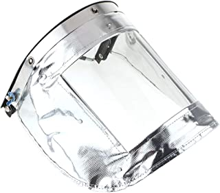 P Prettyia 作業用 フェイスガード  溶接マスク 耐高温500度 防護面 二層アルミホイル複合