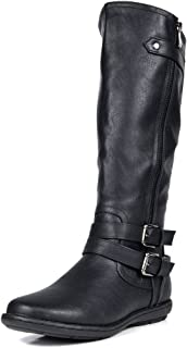 Women's Faux Fur-Lined Knee High Winter Boots (Wide-Calf)