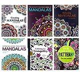 Adult Coloring Book Set: 6 Book Set - 4 Mandalas Books Plus Pattens and...