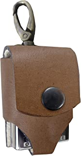 for Zippo Genuine Leather Heavy Duty Pouches Lighter Holder Case Handmade Pouch Accessories by Ebsem (Trigger Hook, Vintage Brown)