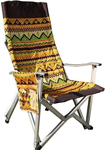 JQHLJZDY Accoudoir chaise de plage, chaise de camping chaise de pêche portable chaise de pêche en aluminium chaise pliante multifonctions, chaise de directeur portable en alliage d'aluminium Oxford ch