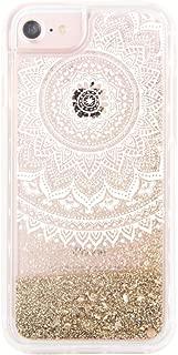 uCOLOR Gold Glitter Damask Floral Case for iPhone 6S /iPhone 6, iPhone 7 Case iPhone 8 Case Waterfall Clear Protective Case for iPhone8/ 7/6S/6(4.7