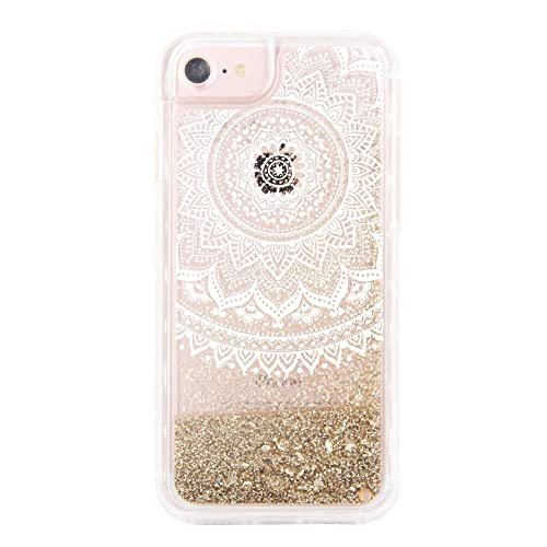 702da99ac3 uCOLOR Gold Glitter Damask Floral Case for iPhone 6S /iPhone 6, iPhone 7  Case