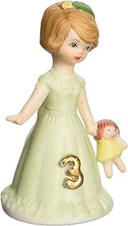 "Enesco Growing Up Girls ""Brunette Age 3"" Porcelain Figurine, 3.25"""
