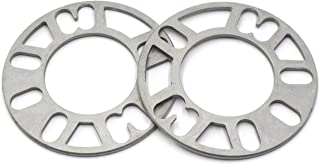 GoldenSunny Pack of 2, Aluminum Alloy 4 and 5 Lug 5mm Thickness Universal Wheel Spacers - Fit PCD 98-120