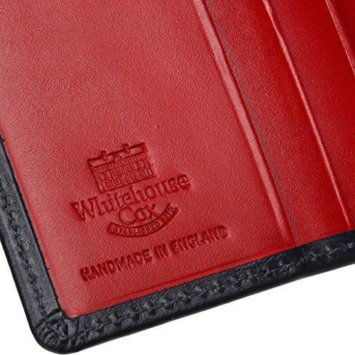 ホワイトハウスコックス(WhitehouseCox)DerbyCollectionS1958二つ折り財布ネイビー・レッド