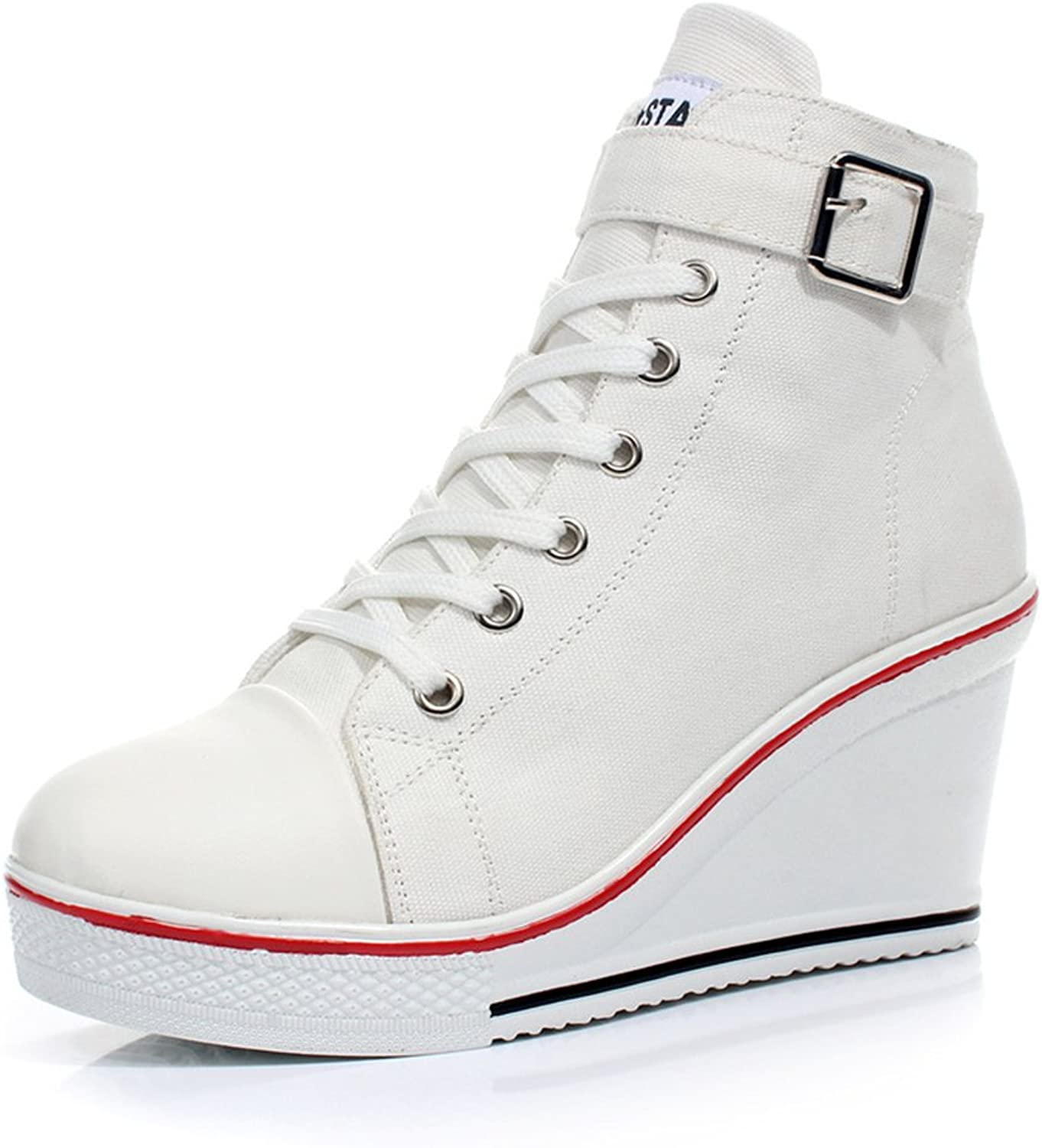 Excellent.c New Classic White Canvas shoes Spring and Summer Casual lace shoes Fashion Breathable Student high Help shoes
