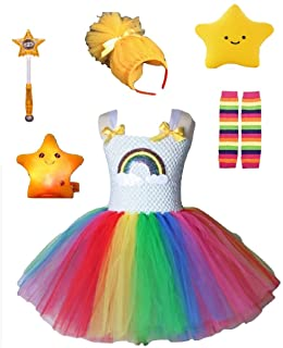 Rainbow Bright Costume Tutu Dress/Accessories from Chunks of Charm