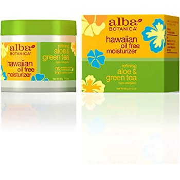 alba botanica hawaiian oil free moisturizer aloe green tea review