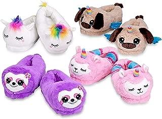 Top Trenz Plush Unicorn,Sloth,Puppy,Llamacorn Kids Slippers
