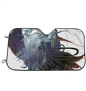RJ Unique Windshield Sunshade,Fin-Al Fant-Asy XV Logo Anime Car Sunshade, Excelentes Cortinas De La Ventana del Coche para Vehículos Automotores De Camiones 76x140cm