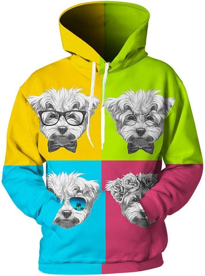 LUO Sweatshirts 3D Hommes Femmes Sweats À Capuche Imprimer Cartoon Sweat-shirt De Mode Cool 3D Pull Streetwear,L L