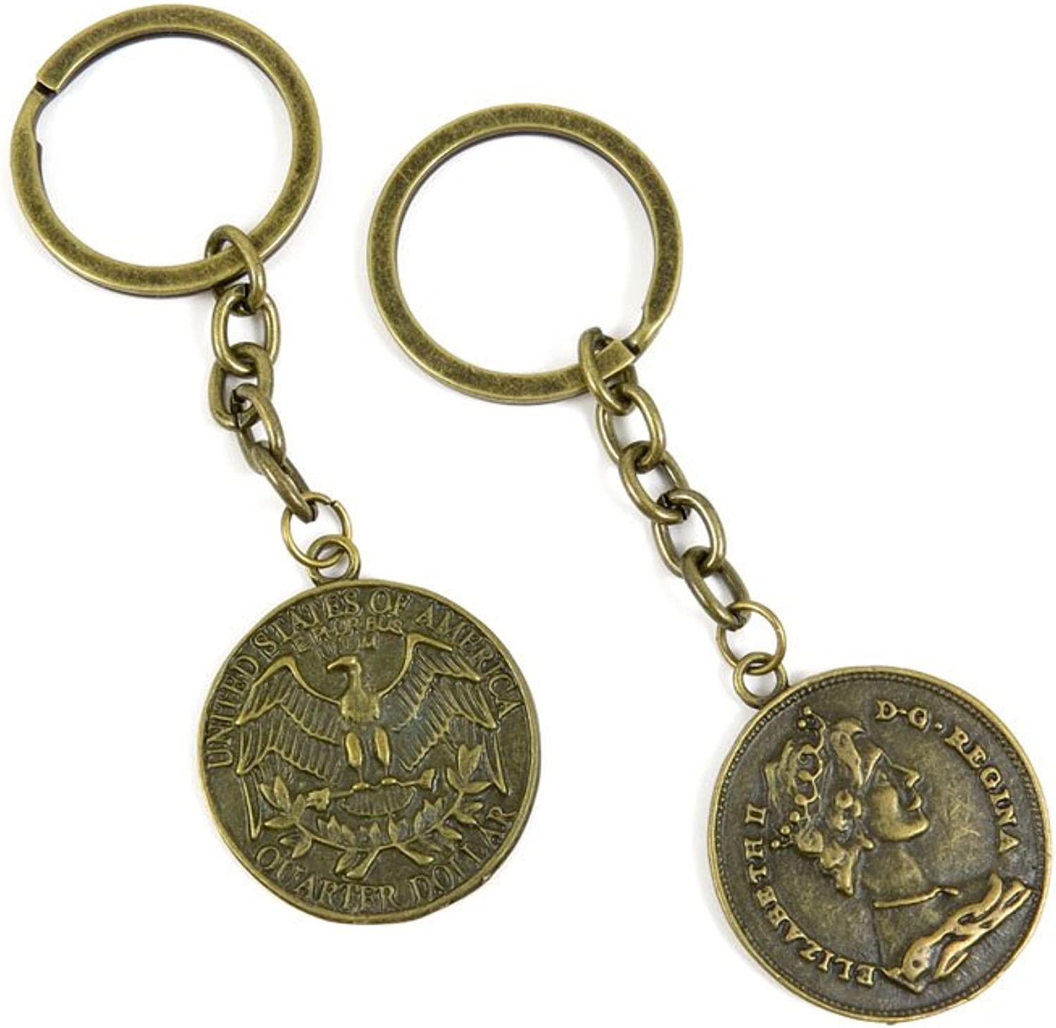 120 Pieces Fashion Jewelry Keyring Keychain Door Car Key Tag Ring Chain Supplier Supply Wholesale Bulk Lots Q4GC1 US Dollar King Sign